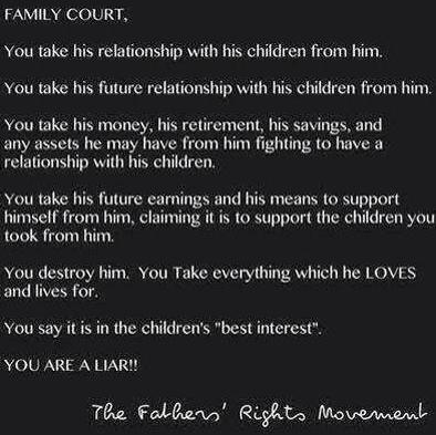 Family Courts steal realtionships - 2015