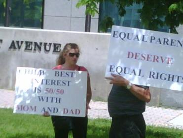 Family Law Reform Demonstration at Lawson E. Thomas Courthouse Miami Florida