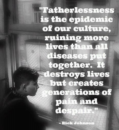 Every major social pathology has been linked to FatherlessChildren