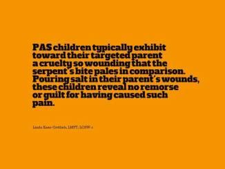 Linda Gottlieb Quote Parental Alienation - 2015