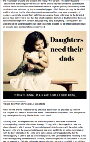 Stop Denial of Reasonable Parent-Child Contact - Stop Parental Alienation 5 - 2015