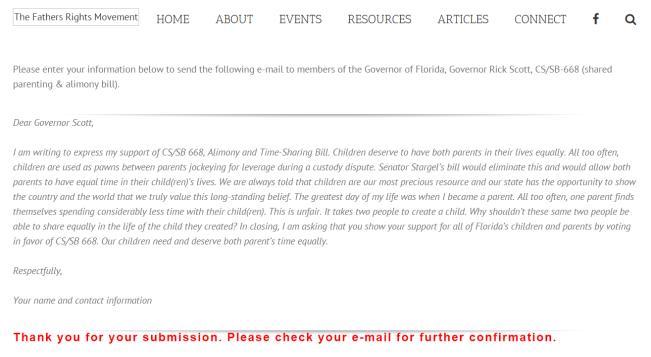 Dear Governor Scott - Florida law Reform --2016