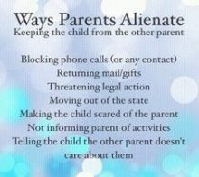 ways parents alienate